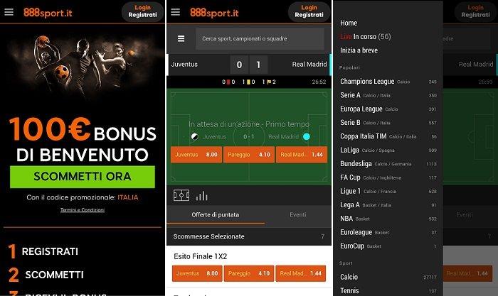888sport Android mobile Applicazione