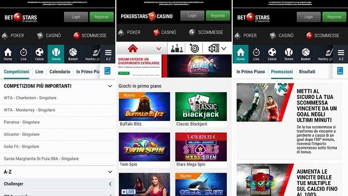 Le Bet Stars app per Giocare e Scommettere da Mobile