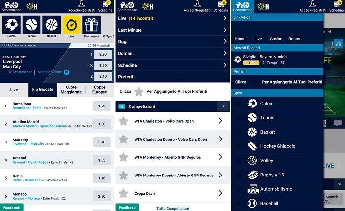 App William Hill disponibile per Mobile per Android