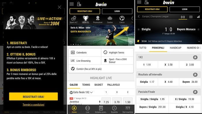 Download Android Applicazione bwin