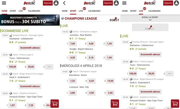 Betclic recensione dell'app Android
