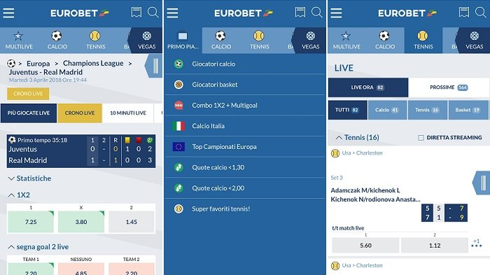 Recensione Eurobet app Android