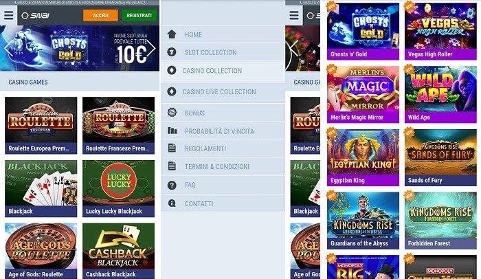 L'app del Casino SNAI - Android e iOS