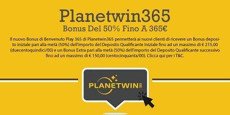 PlanetWin365 scommesse gratuite